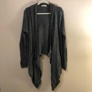Abercrombie & Fitch grey hi low cardigan